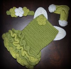 Crochet Green Princess Fairy Baby Tutu Dress with Wings, Shoes & Matching Headband Photo Prop Custom Made Girl Costume on Etsy, $80.00
