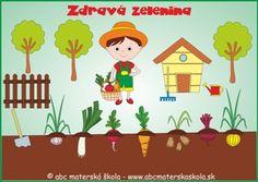 NOVÝ ŠVP pre MŠ - Zdravá zelenina a Záhradník - farebné predlohy na Interaktívnu tabuľu.