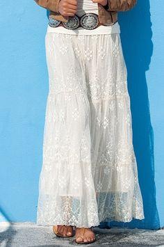Boho lace maxi skirt Style: 470833344 $99.98 www.bostonproper.com
