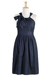 Indigo chambray dress