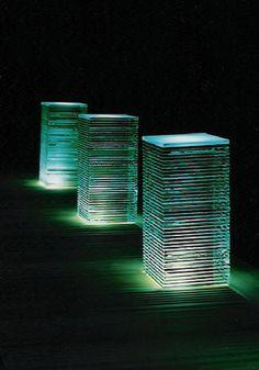 AZURE LED Decking Bollard Light - Bollard Lighting for Spa & Swimming pools - Outdoor Landscape Lighting - Bespoke outdoor lighting