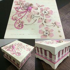 #Caixa #CaixaDecorada #CaixaPresente #GiftBox #Decoração #Estêncil
