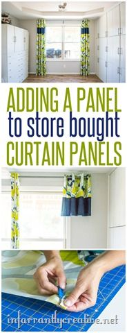 SEWING | How to add a middle panel to store bought curtains that are too short