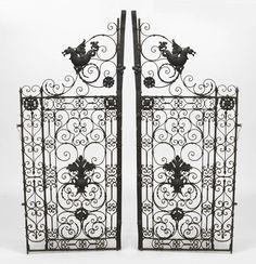 Italian Renaissance architectural element gate iron