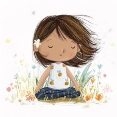 And breathe Lucy's Illustrations ( Art And Illustration, Character Illustration, Doodle Art, Yoga Kunst, Illustrator, Yoga Art, Cute Drawings, Cute Art, Watercolor Art
