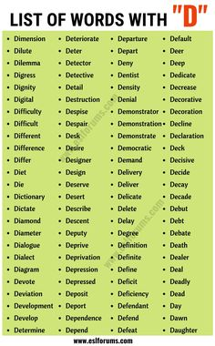 Words that Start with D | List of 200+ Common Words Starting with D