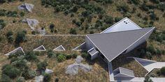 Concrete Structure, Ping Pong Table, Futuristic, Greece, Villa, Houses, Home Decor, Homes, Homemade Home Decor