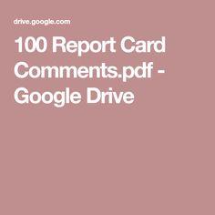 100 Report Card Comments.pdf - Google Drive