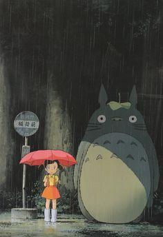 My Neighbour, Totoro - One classic anime that melts all kids' heart. A wonderful journey of sisterhood, with the accompany of mythical woodland creatures, including the big hugable Totoro. Hayao Miyazaki, Film Anime, Manga Anime, Anime Art, Otaku Anime, Art Studio Ghibli, Studio Ghibli Movies, Spice And Wolf, The Best Films