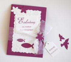 Einladungskarte Konfirmation-Kommunion-Firmung von CV Kartenwelt auf DaWanda.com