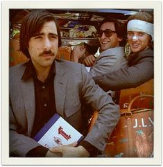 Jason Schwartzman, Adrien Brody, and Owen Wilson from THE DARJEELING LIMITED. wes anderson