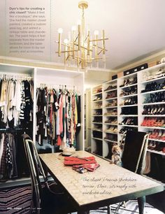 Closet ROOM! If only the hubby would let me I would so have this!