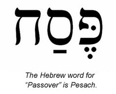 The Hebrew word for Passover