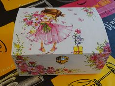 Decoupage Ideas, Decoupage Vintage, Children, Kids, Projects To Try, Shabby, Wooden Crafts, Wood Art, Craftsman Deck Boxes