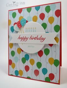 For information on how I made my card and the products used, please check out my blog post here: http://cardiologybyjari.com/stampin-up-party-wishes-birthday-card/