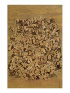 Hundred of Japanese Buddha Giclee Print by Jyakuchu Ito at Art.com