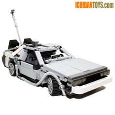 DeLorean V3 - Custom LEGO Element Kit | 2010 | 649 pieces | I wasn't going to release this kit until I had a hovering and steering mechanism rolled into one contraption. It took a long time until I finally got it