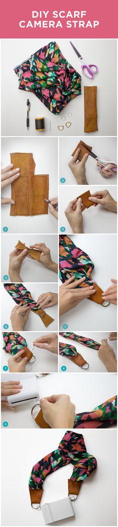 How to make a DIY Scarf Camera Strap!