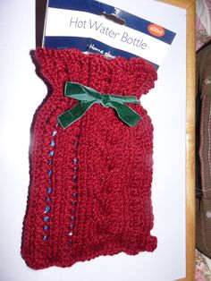 another hand knitted project. I really enjoy knitting these hot water bottle covers they only take roughly 3 hours to make!!