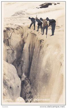 RP; Bryon Harmon #295, Ice Cravasse, BANFF, Alberta, Canada, 20-30s