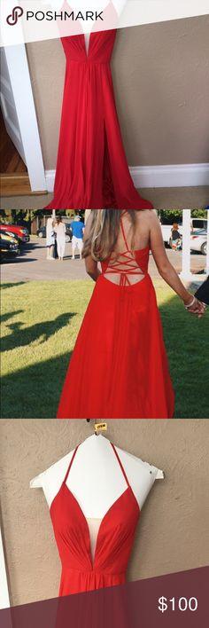 Faviana Prom Dress Red Prom dress Faviana Dresses Prom