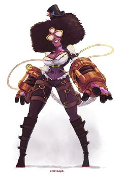 Steampunk Garnet! She has to manually control the pressure on her gloves to deliver harder punches.Thank you for your answers. I ended up choosing a theme that is more or less related with most of the options i had. I hope you like it!High School Crystal Gems/Medieval Crystal Gems