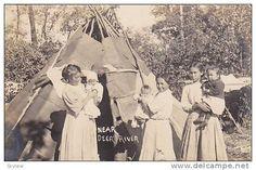 RP; Indian women & kids, Teepee , near DEER RIVER , Minnesota, 00-10s Item number: 182995447  SCVIEW on Delcampe.com