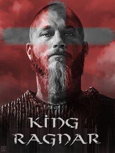 Ragnar Lotbrok splendid portrayed by Travis Fimmel .........................................