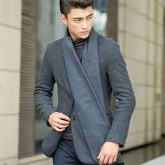 European Business Casual Men Scarves Long Thick Warm Neckerchief Modal Shawl High-grade Solid Men Scarves Gifts For Men Season: Spring,Summer,Autumn Function:Warm Style:Fashion Weaving Method:Warp Pattern Type:Solid Gender:Me. Business Casual Men, Men Casual, Stylish Men, Mens Scarf Fashion, Fashion Men, Fashion Ideas, Fashion Inspiration, Velvet Scarf, Spring Scarves