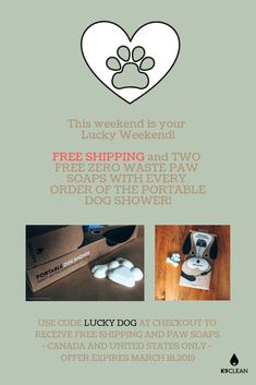 Hurry, this is rare for free shipping!  This weekend only and you get two bonus Zero Waste Paw Shampoo bars!