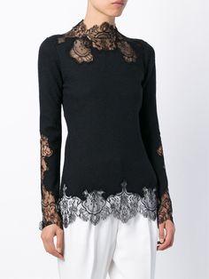 Ermanno Scervino Lace Panel Sweater - Coltorti - Farfetch.com
