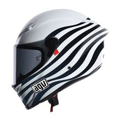 Helmet AGV black and white
