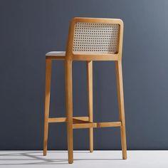 Wood Bar Stools, Wood Stool, Counter Stools, Bar Counter, Modern Aesthetics, Bar Seating, Modern Materials, Upholstered Chairs, Modern Chairs