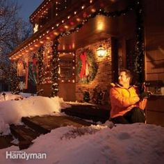 The Ultimate Guide For Holiday Lighting The Family Handyman regarding measurements 1200 X 1200 Storing Christmas Lights In Attic - LEDs will last 10 Years Installing Electrical Outlet, Outdoor Electrical Outlet, Outdoor Outlet, Home Electrical Wiring, Electrical Outlets, Electrical Projects, Electrical Engineering, Hanging Christmas Lights, Holiday Lights