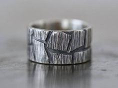 Rugged mens ring size 9 sterling silver ring sculptural