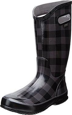 4f3c230e4 Bogs Womens Buffalo Plaid Rain BootBlackGray11 M US     You can get more  details