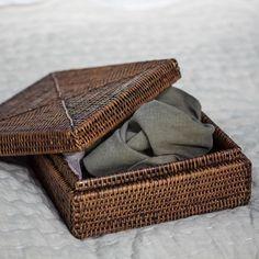 Reed baskets for stylish storage.