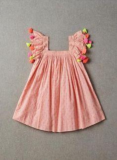Nellystella Chloe Dress in Peach Melba Swissdot - PRE-ORDER