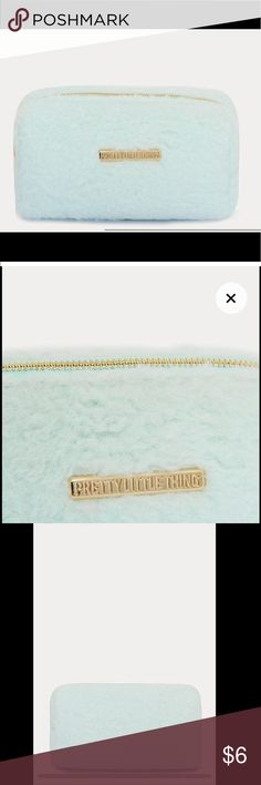c6055d89a0 NEW 🔥 Mint faux fur makeup bag! PrettyLittleThing New and unused. Has a  satiny lining. Super pretty and convenient! Color is pretty light.