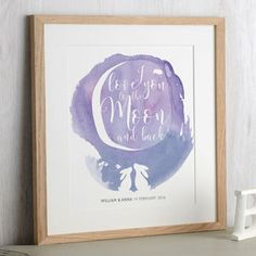 Watercolour Moon Rabbit Print