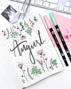 pastel bullet journal layout ideas bullet journal bujo b Bullet Journal August, Bullet Journal Notebook, Bullet Journal Spread, Bullet Journal Inspiration, Bullet Journal First Page, Bullet Journal Months, Bullet Journal Birthday Page, Bullet Journal Layout Ideas, Bullet Journal Ideas Handwriting