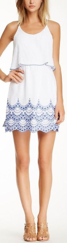 City Triangles Popover Embroidered Flutter Dress....... LOVE this dress!!!