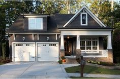 grey cottage white trim - Google Search