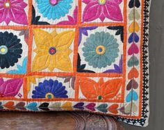 Indian tribal textile with mirror work - Rabari
