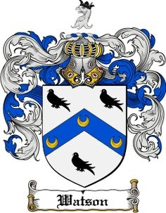 Watson Family Crest / Watson Coat of Arms