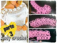 BLUSA EN CROCHET ( video peticion parte 3 final ) Andy crochet