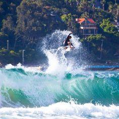 Oz Wright kitesurfing