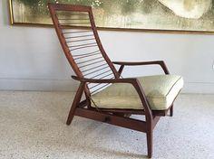 1950's Designs By Milo Baughman Danish Lounge. High Point, N.C. AMES INC. Octagonal Chair No. 98
