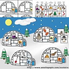 Igloos des sons French Education, Kids Education, Winter Fun, Winter Theme, Winter Activities, Preschool Activities, Amelie Pepin, Literacy Games, Teacher Helper