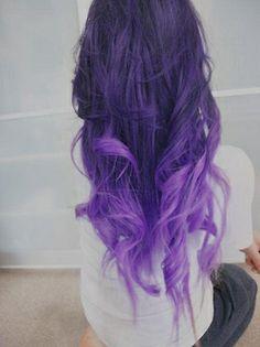 pastele ombre hair   perfect hair ombre ombre hair purple hair dark purple hair grunge ...